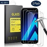 Samsung Galaxy A3 2017 Panzerglas Schutzfolie, Alfort 3 Stück Gehärtetem Glas Panzerfolie Displayschutzfolie Folie für Samsung Galaxy A3 2017