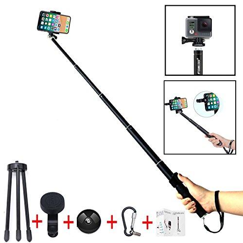 Palo Selfie, Foneso Selfie Stick Monopod con Trípode, Mando a Distancia y Lente...