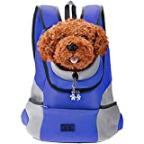 Sri Comfortable Dog Cat Pet Carrier Backpack for Small Dogs Carrier Bike Hiking Outdoor, Blue