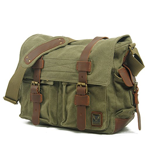 koson-man-unisex-durable-vintage-messenger-bag-casual-camera-baggreen