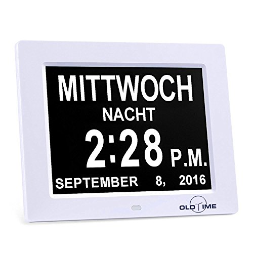 "OLDTIME 8"" Digitaler Bilderrahmen mit Wecker, Kalender"