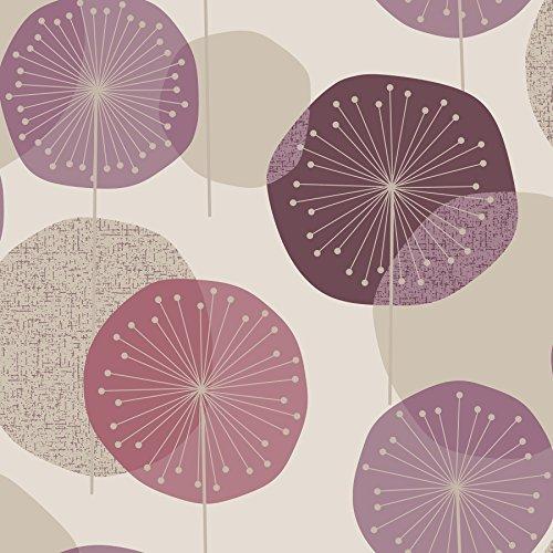Retro Floral Wallpaper (Eco Tapete 56570,53x 10,05m Tapete