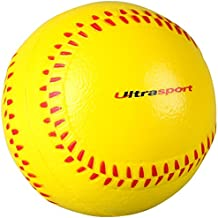 Ultrasport 331500000661, Palla da Softball in Gommapiuma Unisex – Adulto, Giallo/Rosso, Taglia Unica