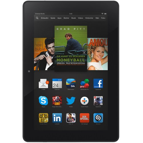 Kindle Fire HDX 8.9, 22,6 cm (8,9 Zoll), HDX-Display, WLAN, 16 GB...