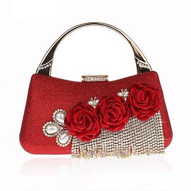 pwne L. In West Frauen'S Mode Diamond Flower Quaste Abendessen Pakete Tasche Red