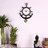 #4: eCraftindia Decorative Retro Anchor Brown Pendulum Wall Clock