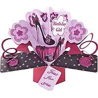 Suki Gifts International Pop Up Card Birthday Girl Shoes, Multi-Colour, 13 x 21 x 19 cm
