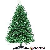 DishanKart Christmas Tree with Plastic Stand for Christmas Home Decor 4 Feet