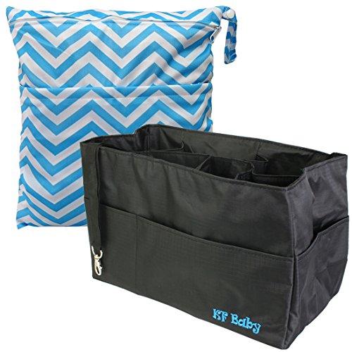 kf-baby-sac-a-langer-organisateur-305-cm-noir-diaper-sec-humide-sac-a-valeur-combo