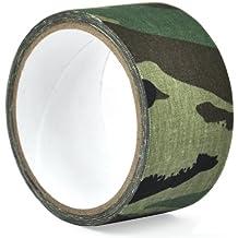 TRIXES 5m Cinta Adhesiva Camuflaje Verde ANVOLTURA CAMU RIFLE / ESCOPETA DE CAZA SIGILOSA