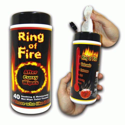 ANILLO de fuego después de Curry toallitas para el culete