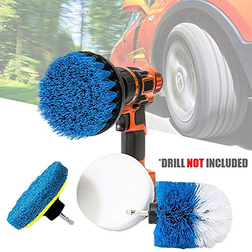 Exterior 5 Pieces Auto Detail Brush Set Car Wash with