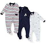 BornBabyKids Multi Color Romper Body Suite for New Born baby Pack Of 3
