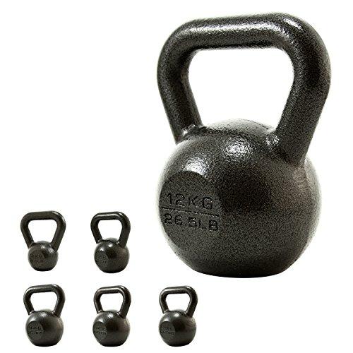 PROIRON Pesa rusa de Hierro Fundido, kettlebell 4kg 8kg 12kg 16kg 20kg 24kg para fisicoculturismo y entrenamiento con pesas