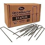 """Groundmaster 6""""/150 mm grapas de jardín – forma de U clavijas de seguridad Ideal para forro polar, tejido Control de malezas tela, membrana, lonas, malla y cubierta"""