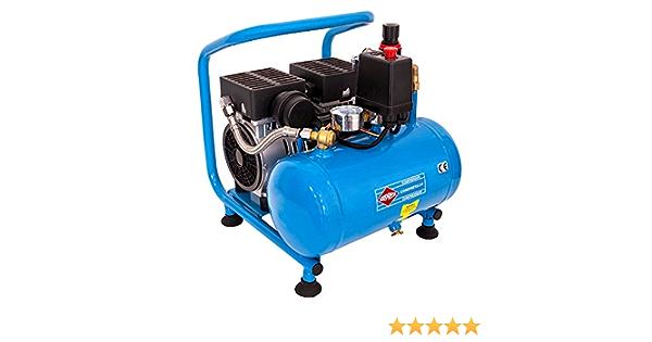 Airpress Druckluft Kompressor L 6 95 Silent 8 Bar 6 Liter 0 6 Ps 2 Zylinder Pro Baumarkt
