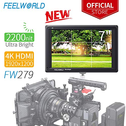 ll DSLR Kamera Field Monitor Camera Full HD Focus Video Assist 1920x1200 IPS mit 4K HDMI Input Output 2200nit Hohe Helligkeit ()