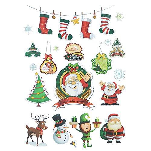 COKOHAPPY Natale Temporanei Temporaneo Tatuaggi Tattoo Carina Alce Pupazzo di neve Santa Claus Per Kid Children - 2007 Di Cristallo
