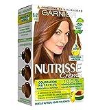 Garnier Nutrisse Creme Coloración permanente con mascarilla nutritiva de cuatro aceites - Marrón...