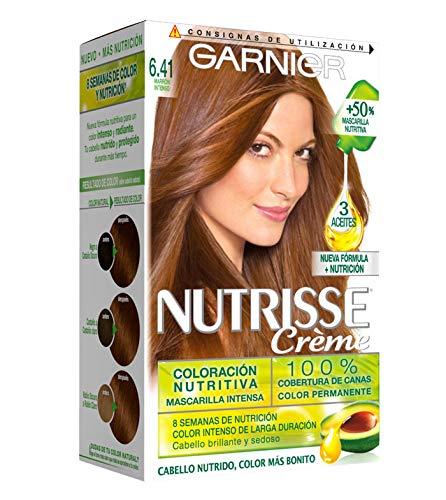 Garnier Nutrisse Creme Coloración permanente con mascarilla nutritiva de cuatro aceites - Tono: Marrón Intenso 6.41