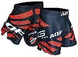 """AQF MMA – Pantalones Cortos de Combate para Hombre, Color Negro, Color Negro, Tamaño M (30""""-32"""" Waist)"""