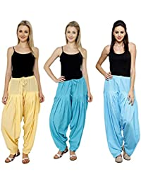 Mango People Products Combo Skin,sky Blue, Sky Blue 3 Colours Womens & Girls Solid Cotton Mix Best Indian Ethnic...