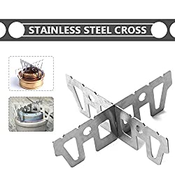 SLB Works Alcohol Stove Bracket Coal Rack Practical Durable Portable Stainless Steel