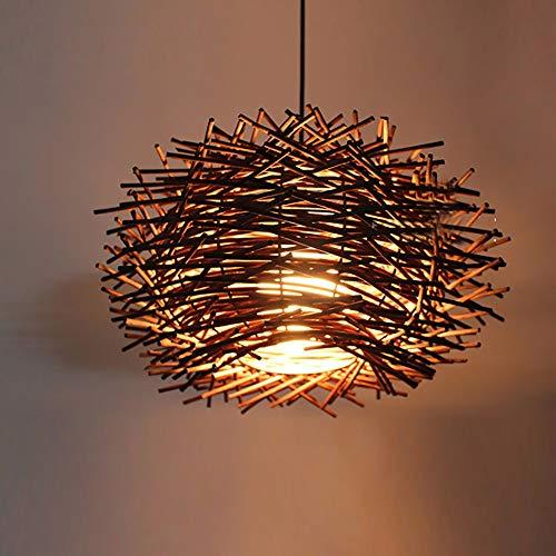 Elegent rattan lampadario ristorante ristorante bar conduce moderno nido minimalista tessitura lampada creativa rotonda tutti i materiali artificiali fatti a mano marijuana lucido lucidato rattan lamp