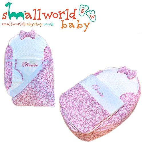 Personalisierte Pink Blumen Pre gefüllt Baby Sitzsack mit Bezug