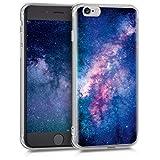 kwmobile Coque Apple iPhone 6 / 6S - Coque pour téléphone Apple iPhone 6 / 6S - Housse protectrice en Rose Clair-Fuchsia-Bleu foncé
