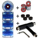FunTomia 4X Miniboard/Skateboard Rollen 59x45mm inkl. T-Tool und MACH1 Kugellager Härtegrad 82A mit T-Tool Schraubenschlüssel erhältlich