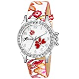 #7: Rich Club RC-5018 Stylish Crystal Studded Multi-Color Watch for Women and Girls