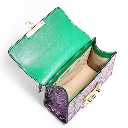 Sheli Borsa Donna a Tracolla con Manici Porta Professionale Vera Pelle Borse Crossbody Verde