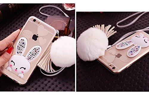 iPhone 6 Plus Cover, Bonice iPhone 6S Plus Custodia (5.5), Ultra Slim Thin Morbido TPU Clear Trasparente Animale Cat Case model 1