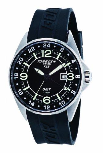 Torgoen - T25304 - Montre Homme - Quartz Analogique - Cadran Noir - Bracelet Plastique Noir