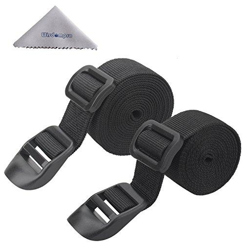 wisdompro® 2er Pack von Schlafsack Gurte-Schwarz, schwarz (Schwarz) - W-Poly-SleepBagStrap-Black-68Inch-AMZ (Extra Kunststoff-wrap Breite)