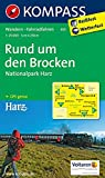 Rund um den Brocken - Nationalpark Harz 1 : 25 000 (KOMPASS-Wanderkarten, Band 455)