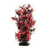 sourcingmap 15.3 Inch Red Plastic Decorative Plant Aquarium Terrarium Decor Reptiles Habitat Ornament Home Decoration
