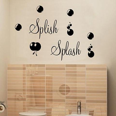 Graz Design–Adhesivo decorativo para pared spllish Splash con burbujas baño diseño (afc1s4)..., Rosa, M - 90 cm x 30 cm