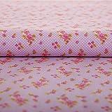 Hans-Textil-Shop Stoff Meterware Rosen Blumen Punkte Tupfen