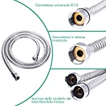 Rovtop-Soffione-Doccia-15M-Flessibile-Doccia-5-Funzioni-Getti-Doccia-Soffione-Multifunzionale-ad-Alta-Pressione-con-Teflon-e-Guarnizioni