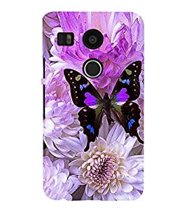 Vizagbeats butterfly on flowers Back Case Cover for LG Google Nexus 5X::LG Google Nexus 5X (2nd Gen)