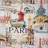 Dekostoff - Frankreich / Paris - 140 cm breit - Meterware