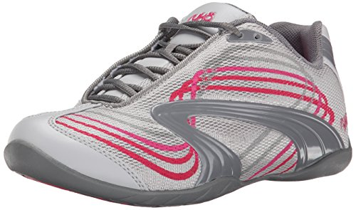 Ryka Women's Studio D Cross-Training Shoe, Cool Mist Grey/Frost Grey Pink/Hot Pink, 7.5 M US (Womens Studio Ryka)