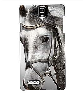 Fuson Designer Back Case Cover for Infocus M330 (The horse face theme)