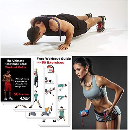 Atemi Sports bande di resistenzaExtra Wide MINI resistenza Loop con l/'esercizio fisico