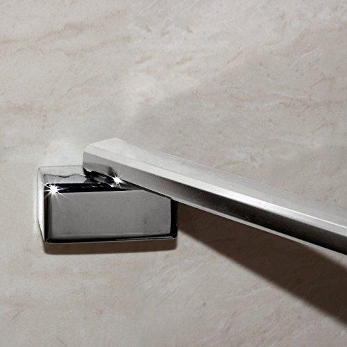 90x195cm Duschabtrennung Duschtür Nischentür Echtglas mit Nanobeschichtung (HN90-2E V2+1B V2) - 5