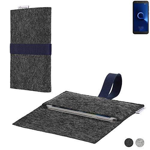 flat.design Handy Hülle Aveiro für Alcatel 1C Single SIM passgenaue Filz Tasche Case Sleeve Made in Germany