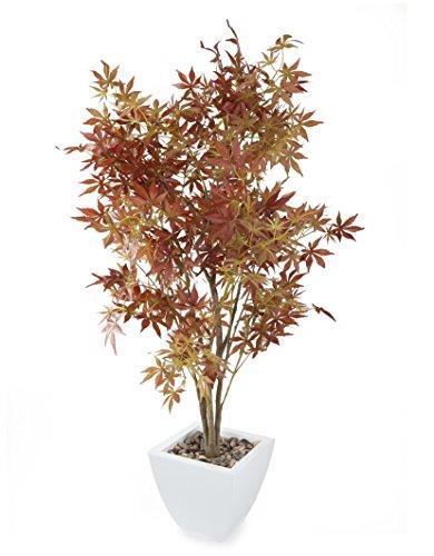 Closer To Nature Kunstblumen 4ft 15,2cm rostbraun braun Japanischer Ahorn Baum–künstliche Seide Pflanze und Baum Serie