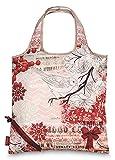 Einkaufstasche ,Tasche , Shopper - Hirsch - Vogel - Herbst - Winter verschiedene Motive (rot)